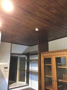 5リフォーム後 キッチン天井壁やり替え  棚設置